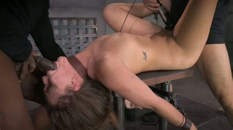 restrained White Chick Maddy Oreilly Had Hard Threesome With Bdsm Masters