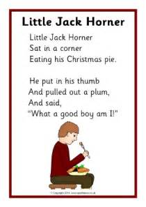 Little Jack Horner Nursery Rhyme Lyrics