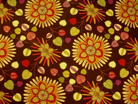 Floral Upholstery Fabric by Mpress Large Vibrant Colorful Contemporary Floral Cotton