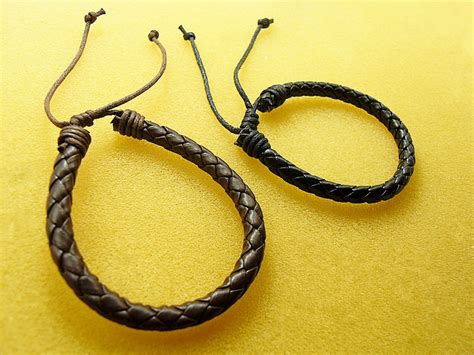 15pcs/lot Adjustable Black Faux Leather Braided Wristband Bracelets 20cm Fit Jewelry Diy-in Ebay Amethyst Jewelry Versace Pc Games Diamond Bracelets Earrings Bling Us Tags Sets