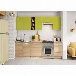 Meuble Cuisine Design : meubles cuisine compl te lena 2m40 8 meubles ~ Teatrodelosmanantiales.com Idées de Décoration