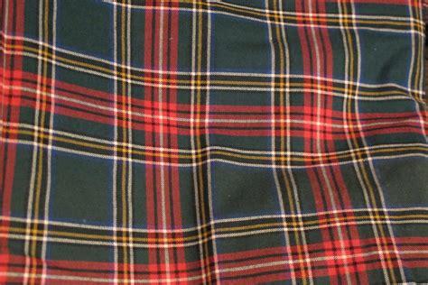 scotch tartan green plaid fabric remnant 54 wide 1