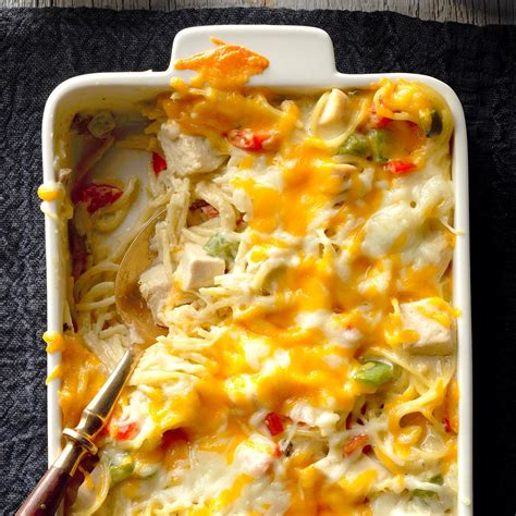 Chicken & Cheese Noodle Bake Recipe  Taste Of Home