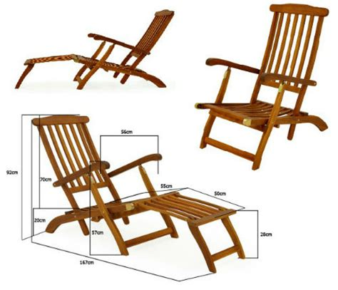 wooden sunbed reclining garden sun lounger patio folding