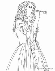 Taylor Swift Coloring Pages Printable Fearless Album 25262
