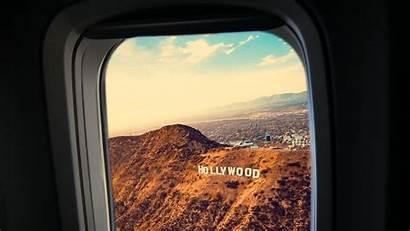 Window Plane Porthole Hollywood Flight Angeles Los
