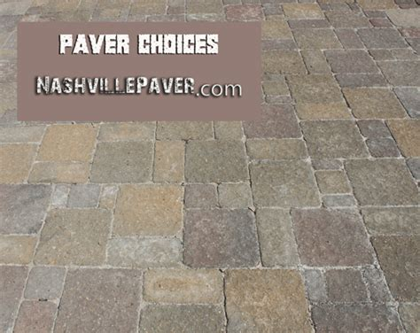 paver styles choose a style of nashville paver for your project