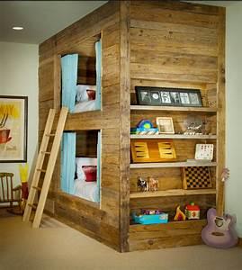 Hochbett Holz Kinder : kinderzimmer mit hochbett coole platzsparende wohnideen ~ Michelbontemps.com Haus und Dekorationen