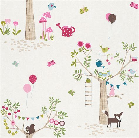 Woodland Animal Wallpaper - woodland animals wallpaper borders bedroom nursery