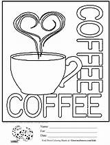 Coloring Pages Coffee Cups Cup Printable Sheets Adult Starbucks Sheet Ginormasource Activities Colouring Cool Sign Christmas Signs Drawing Creamer Fun sketch template