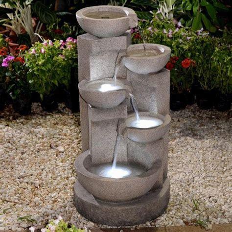 jeco multi tier zen bowls indoor outdoor with led