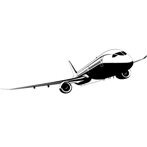 passenger plane wall sticker commercial airplane wall