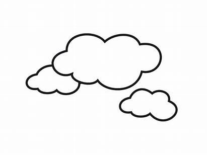 Cloud Clouds Clipart Cartoon Printable Coloring Clip