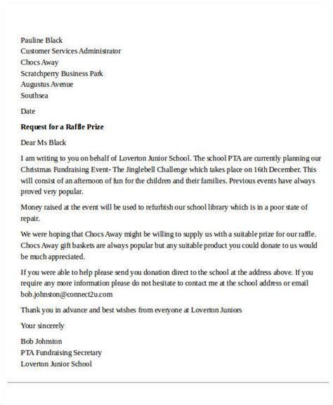 letter   raffle prizes   letter  condi
