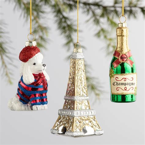 glass france boxed ornaments 3 pack world market