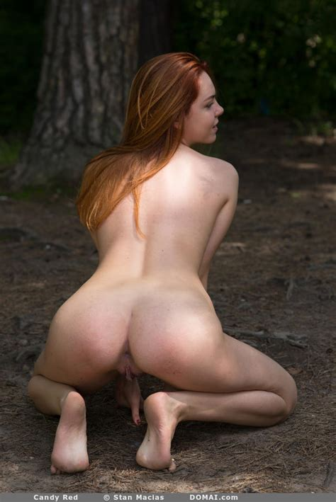 Candy Red Nude In The Outdoors