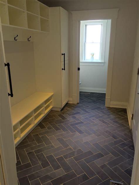mudroom powder room flooring slate tile