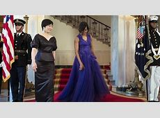 Michelle Obama's best state dinner dresses POLITICO