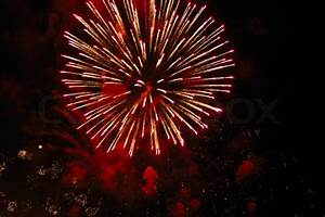 Beautiful fireworks on black sky Colorful fireworks Great ...