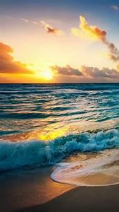 HD lock screen – the beach at sunset iPhone 6 Wallpaper ...