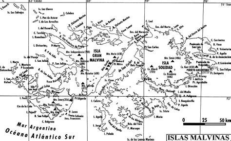 Mapa de Islas Malvinas para imprimir y colorear