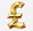 British Pound Sign Png Clip Art - Pound Sterling Gold Png ...