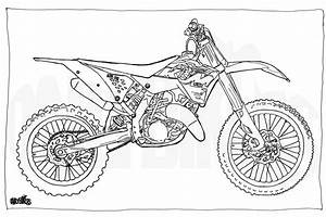 adult colouring page motorcycle illustration With honda 125 race bike