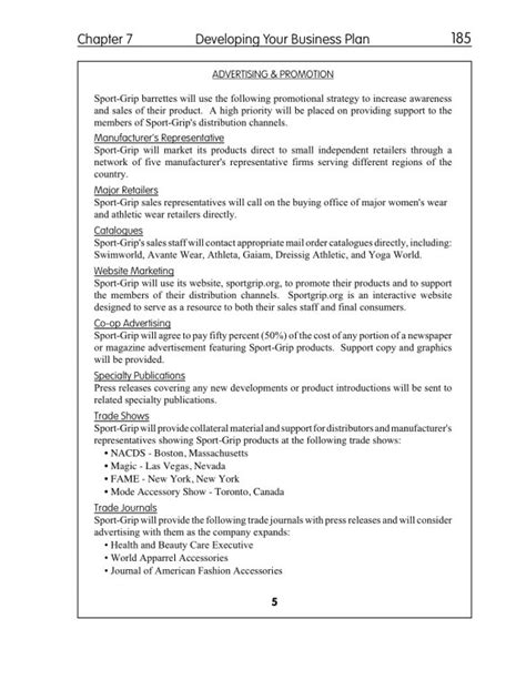 Canadian Business Plan Template by Free Printable Business Plan Sle Form Generic