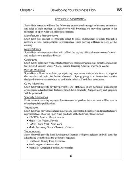 Free Printable Business Plan Sample Form (GENERIC