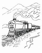 Polar Express Coloring Pages Train Mountains Sheets Colouring Ticket Printable Believe sketch template