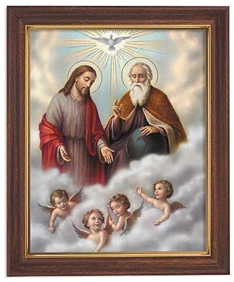 Jesus Holy Trinity Print in Frame God Father Son Holy ...