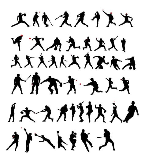 baseball silhouette cliparts   clip art  clip art  clipart library