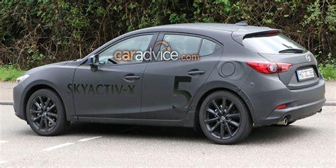 New Mazda Engine 2019 by 2019 Mazda 3 Spied With Skyactiv X Engine Photos 1 Of 9