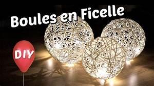 Boule De Lumiere : diy comment fabriquer des boules lumineuses d coratives tuto de lampe en ficelle avec un ~ Teatrodelosmanantiales.com Idées de Décoration