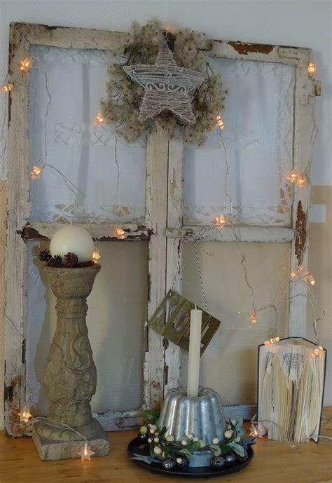 Alte Fenster Dekorieren Weihnachten shabby fenster weihnachtlich winterdeko