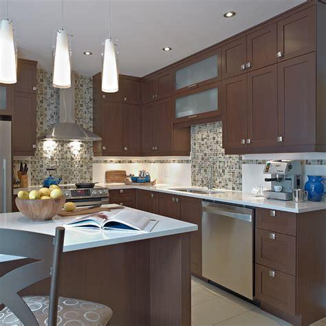 cuisine armoire brune cuisines beauregard cuisine réalisation 281 cuisine