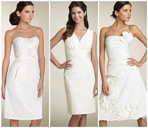 elegant photos of simple short lace wedding dresses for With simple short white wedding dress