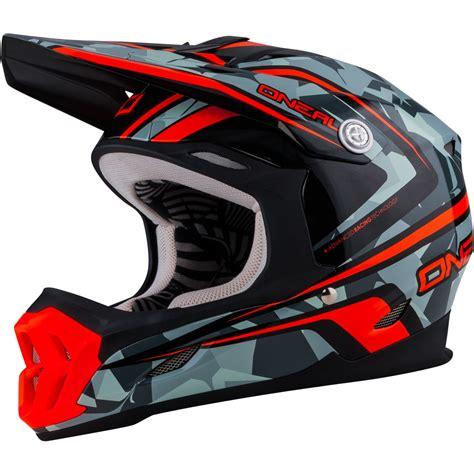 oneal motocross helmets oneal 7 series camo grey orange motocross helmet atv moto