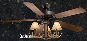 Rustic Outdoor Ceiling Fan With Light Standard Size Fans 52 Quot Rustic Ceiling Fan W Antler