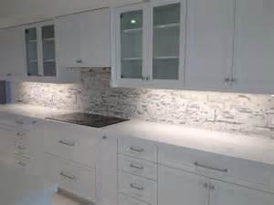 White Quartz Countertop with Backsplash