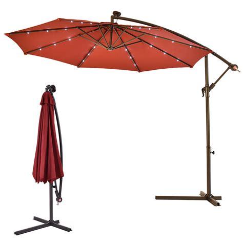 led outdoor umbrella outdoor 10 led hanging solar umbrella patio sun shade 3710