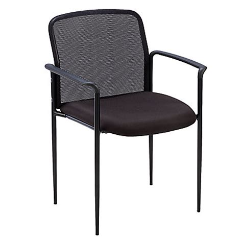 lorell reception side chair with arms 33 h x 23 34 w x 23