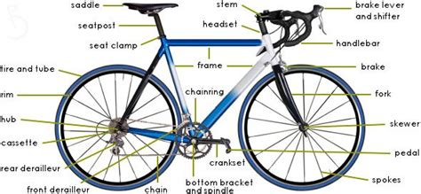 Bike Parts Diagram The Anatomy Objects Pinterest
