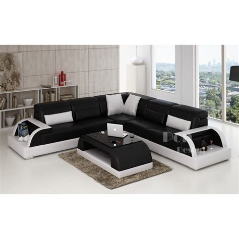 canapé d angle bi couleur canapé d 39 angle design en cuir bolzano l pop design fr