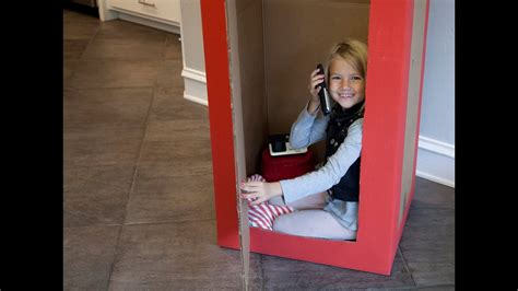 british phone booth   cardboard box