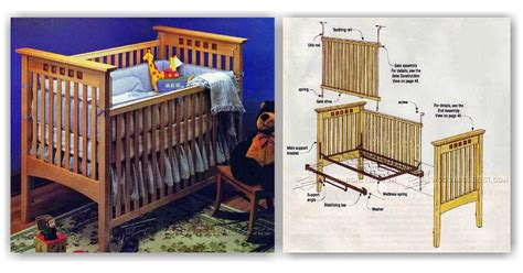baby crib plans woodarchivist