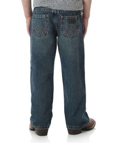 wrangler boys aatto relaxed bootcut retro jeans fort
