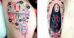 18 Lovable Spirited Away's No-Face Tattoos   Tattoodo
