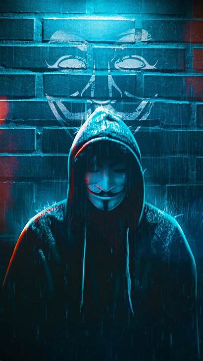 Anonymous Mask Guy Wallpapers Rain Oneplus Iphone