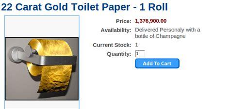 papier toilette en or id 233 e d achat un rouleau de papier toilette a plus d un million d euros nerdpix